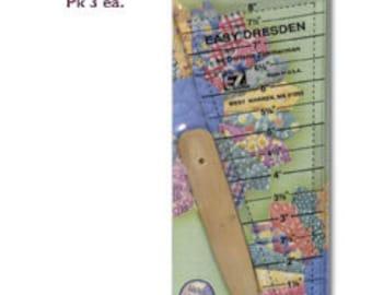 Easy Dresden Ruler by Darlene Zimmerman.