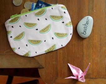 Watermelon coin holder / wallet / Mini pouch / Mini wallet