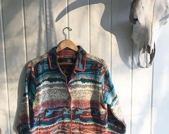 Jane Ashley Jacket. Santa Fe rust colors. Southwestern jacket.