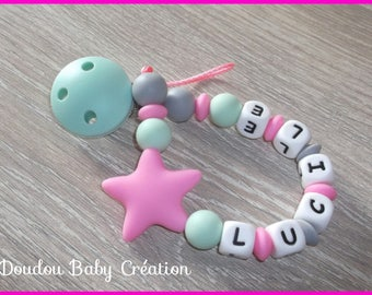 "Pacifier Star 100% silicone - model ""Lucile"""