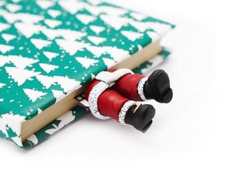 Santa bookmark. Santa Claus bookmark best gift for son, daughter, teen girl, teacher, coworker, student, child, sister, teen boy, brother.