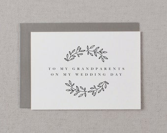 Wedding Card To My Grandparents Wedding Day - To My Grandparents Wedding Card, Thank You Wedding Card, Wedding Note, Wedding Stationery, K9