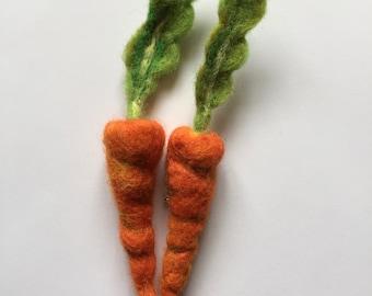 Karotte-Nadel gefilzt Gemüse Brosche Anstecknadel Abzeichen