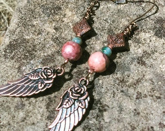 Rose of a Feather Earrings