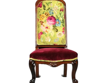 SOLD -Antique Victorian Rosewood Occasional Chair