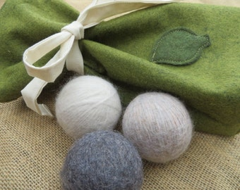 100% Natural Wool Dryer Balls, Replace Dryer Sheets & Toxic Chemicals in the Laundry, Energy Saving and Cost Efficient