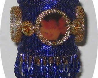 Beaded Christmas Ornament Pattern - Cherubic Music - No VAT required - pay with Paypal and receive a 5 dollar rebate