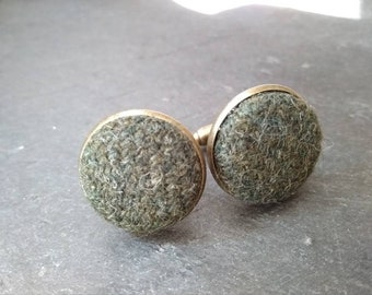 Green Tweed Cufflinks