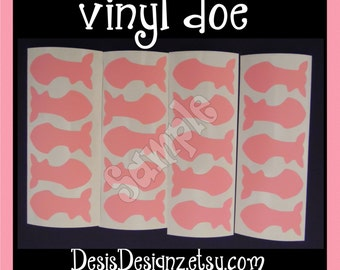 24 Baby shower Doe vinyl decals Girl baby shower decorations sprinkle party vinyl cup stickers vinyl stickers Party cup decals vynil sticker