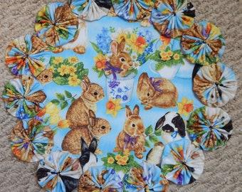 """Spring Bunnies 12"""" Yo Yo Doily"""