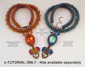 TUTORIAL ONLY for Dreamscape and Paradise Dragon Necklace Beadweaving Pattern
