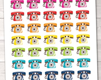Printable Planner Stickers Telephones Instant Download Printable PDF with Phones for Calls Reminders or Appointments