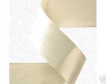 1.5 inch x 50 yds Single Face Satin Ribbon -- IVORY