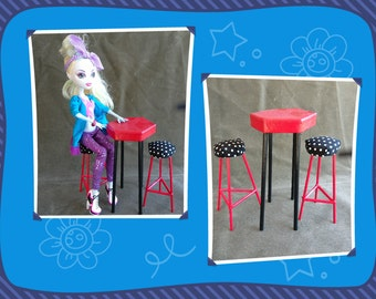 """11"""" Doll Bistro Set Perfect For Monster High Barbie"""