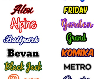 Custom Name - Dual Color Decal