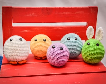 Easter Eggies Crocheted Egg Stuffed Animal/Toy (Made to Order)