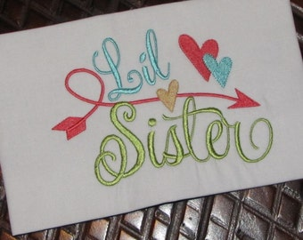 Little Sister Embroidery Design