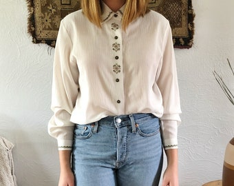 Stitched design blouse