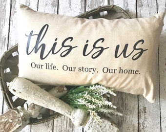 This is Us | This is Us Pillow | Farmhouse Pillow | Farmhouse Decor | This is Us Throw Pillow | Pillow Cover