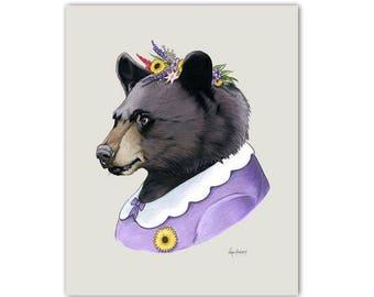 Mama Black Bear art print by Ryan Berkley 8x10