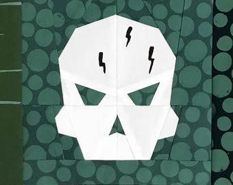 Seeker Skull Paper Piecing Pattern - PDF format