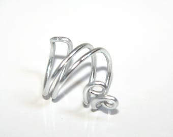 Spiral ring Silver - Aluminum