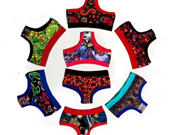 Variety Three-Pack of Funky, Unique, and Colorful Panties (Bombachas) - S/M