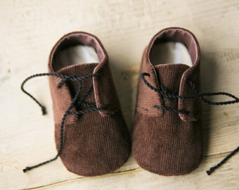 20% OFF Baby boy shoes, Brown baby shoes, Corduroy baby shoes, Baby oxfords, Black baby shoes, soft sole shoes, Little man baby shower gift