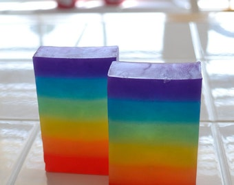 Rainbow glycerin soap - Colorful Soap  - Soap for Kids - Kids party favor - Unicorn Soap - Gift for children