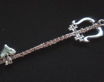 Lady Luck Keyblade - Kingdom Hearts Keys inspired sterling silver necklace - Custom Listing Keyblade