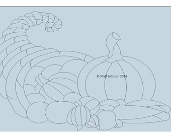 Cornucopia pattern for stained glass etc