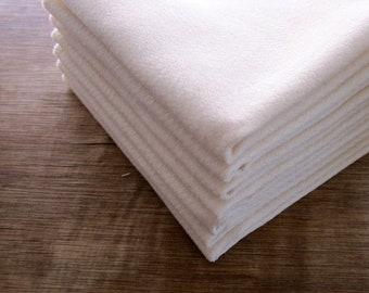Organic Cotton Birdseye Dishcloth Birdseye Two Ply  Eco Friendly -- Choose your Quantity and Edge Thread Color