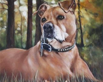 Custom Dog Portrait, Oil Painting, Pet Portrait, Portrait Commission, Animal Portrait, 12x12
