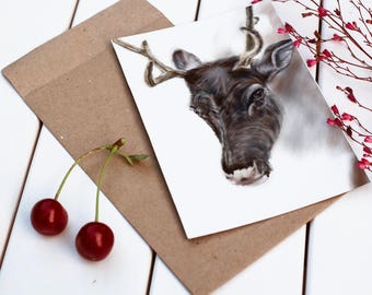 Deer Print / valentines gift / home decor / wildlife / stag/ antlers/ Scottish / gift idea / woodland