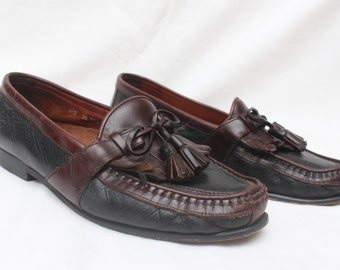 "90's Vintage ""JOHNSON & MURPHY"" Leather Tassel Loafers Sz: 9"