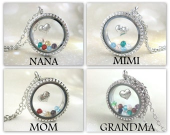Personalized Grandma Necklace Mother Jewelry Birthstone Necklace Great Grandma Gift Grandmother Jewelry Custom Grandma Gift Locket
