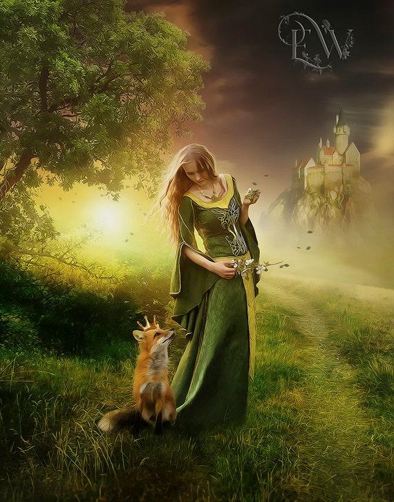 fantasy art print whimsical art print fairytale art print