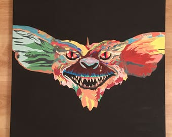 Gremlin oil painting 60cm x 60cm boxed canvas