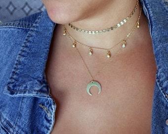 STATEMENT CHOKER, Gold Choker Necklace, Dainty Choker, gold filled choker necklace, Minimalist choker, layering necklace, delicate choker