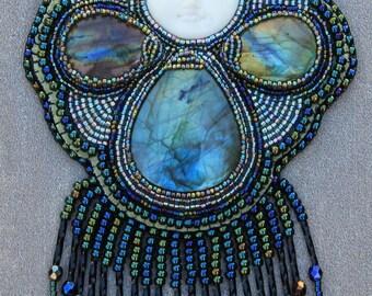 MELIOR fairy Sylphs, beadwork bib necklace