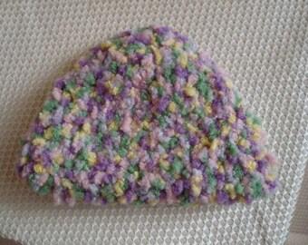 Crocheted Spongy Puff Baby Girl Beanie Hat - 62