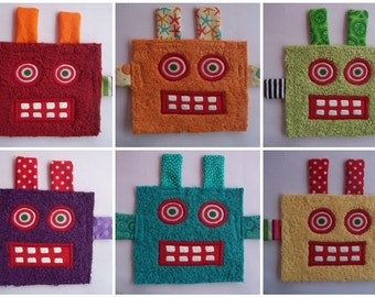 6 Colorful Robot Patches
