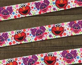 Elmo Ribbon, Sesame Street Ribbon, Abby Ribbon, Elmo and Abby