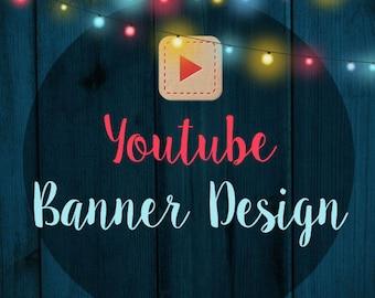 Custom Youtube banner design, Youtube channel art, custom Youtube cover design