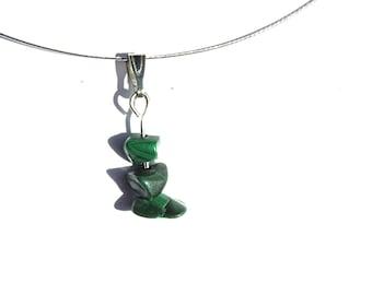 Simple pendant malachite, whimsical necklace, malachite pendant, whimsical pendant, simple necklace, whimsical jewelry, simple jewelry ahin