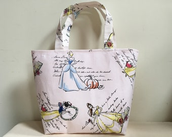 Knitting Project Bag, Scarf Bag, Project Bag, Knitting Tote, Medium Project Bag, Tote, WIP Bag, Disney Princess Inspired