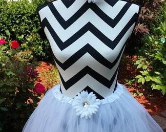 Closeout White Tutu Skirt, Birthday Tutu, Dance Tutu, Ballet Tutu, Costume Tutu, Photo Prop, Soft Tutu