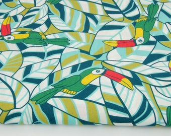 Printed fabric tukans 100% cotton fabrics