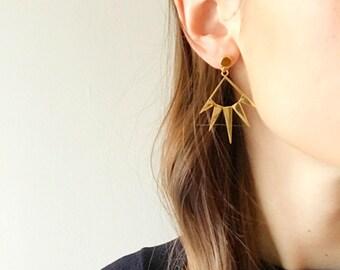 Sunburst Earrings - Hypoallergenic Titanium