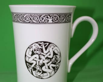 "Celtic Collection - Horizon Porcelain Mug Featuring the ""Green Men"""
